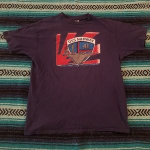 Vintage USS Midway Single Stitch Graphic Tee